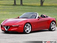 2010 Alfa Romeo 2uettottanta Pininfarina Concept = 245 kph, 200 bhp, 6.5 sec.