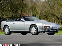 1987 Aston Martin V8 Volante Zagato Prototype = 299 kph, 438 bhp, 5 sec.