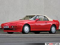 1988 Aston Martin V8 Volante Zagato = 260 kph, 309 bhp, 6 sec.