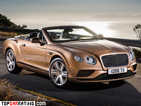 2015 Bentley Continental GTC = 314 kph, 590 bhp, 4.7 sec.