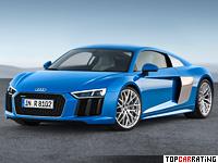 2015 Audi R8 V10 = 323 kph, 540 bhp, 3.5 sec.