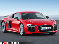 2015 Audi R8 V10 Plus = 330 kph, 610 bhp, 3.2 sec.