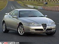 2003 Alfa Romeo GTV = 255 kph, 240 bhp, 6.3 sec.