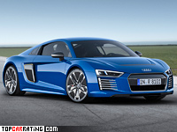 2015 Audi R8 E-tron = 250 kph, 456 bhp, 3.9 sec.