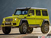 2015 Mercedes-Benz G500 4x4² = 210 kph, 422 bhp, 7.5 sec.