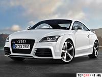 2009 Audi TT RS Coupe = 250 kph, 340 bhp, 4.6 sec.