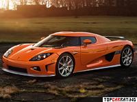 2007 Koenigsegg CCXR = 402 kph, 1032 bhp, 3.1 sec.