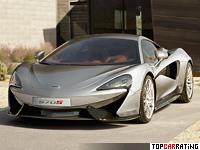 2015 McLaren 570S Coupe = 323 kph, 570 bhp, 3.4 sec.