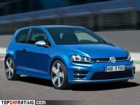 2014 Volkswagen Golf R = 250 kph, 301 bhp, 4.9 sec.