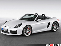 2015 Porsche Boxster Spyder = 290 kph, 375 bhp, 4.5 sec.