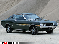 1970 Toyota Celica 1600 GT = 180 kph, 115 bhp, 9.9 sec.