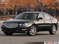 2008 Buick LaCrosse Super = 256 kph, 305 bhp, 6.9 sec.