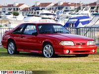 1993 Ford Mustang SVT Cobra = 241 kph, 238 bhp, 6.3 sec.