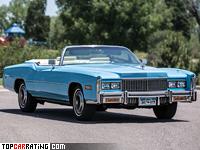 1976 Cadillac Fleetwood Eldorado Convertible = 185 kph, 218 bhp, 12.1 sec.