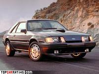 1986 Ford Mustang SVO = 216 kph, 205 bhp, 7.7 sec.