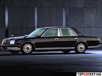 1997 Toyota Century = 210 kph, 280 bhp, 7.5 sec.