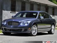 2008 Bentley Continental Flying Spur Speed = 322 kph, 610 bhp, 4.8 sec.