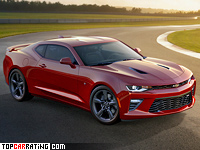 2016 Chevrolet Camaro SS = 250 kph, 460 bhp, 4.3 sec.
