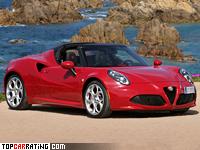 2015 Alfa Romeo 4C Spider = 251 kph, 240 bhp, 4.8 sec.