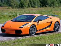 2007 Lamborghini Gallardo Superleggera = 317 kph, 530 bhp, 3.6 sec.