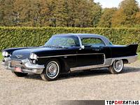 1958 Cadillac Eldorado Brougham = 196 kph, 340 bhp, 11.7 sec.