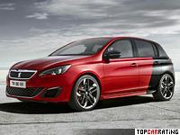 2015 Peugeot 308 GTi = 250 kph, 270 bhp, 6 sec.