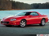 1998 Chevrolet Camaro Z28 = 264 kph, 309 bhp, 5.8 sec.