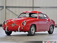 1957 Fiat Abarth 750 GT Zagato = 144 kph, 43 bhp, 19 sec.