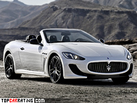 2012 Maserati GranCabrio MC = 294 kph, 460 bhp, 4.8 sec.