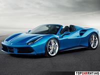 2015 Ferrari 488 Spider = 325 kph, 670 bhp, 3 sec.