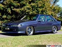 1986 Holden Calais HDT Brock Director HO = 259 kph, 314 bhp, 4.6 sec.