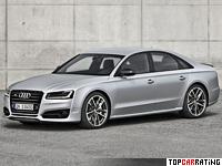 2016 Audi S8 Plus = 305 kph, 605 bhp, 3.8 sec.
