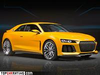 2013 Audi Sport Quattro Concept = 305 kph, 700 bhp, 3.7 sec.