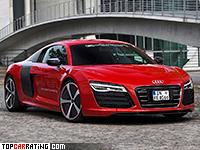 2012 Audi R8 e-tron prototype = 200 kph, 381 bhp, 4.8 sec.