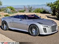 2010 Audi e-Tron Spyder Concept = 249 kph, 387 bhp, 4.4 sec.