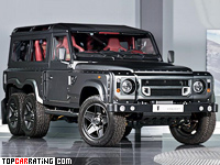 2015 Land Rover Defender Project Kahn Flying Huntsman 110 6x6 = 160 kph, 500 bhp, 9.5 sec.
