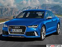 2016 Audi RS7 Performance = 305 kph, 605 bhp, 3.7 sec.