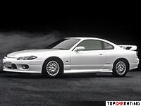 1999 Nissan Silvia Spec-R Aero = 244 kph, 250 bhp, 5.5 sec.
