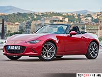 2015 Mazda MX-5 = 223 kph, 160 bhp, 6.8 sec.