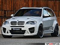 2010 BMW X5 G-Power Typhoon RS = 285 kph, 625 bhp, 4.5 sec.