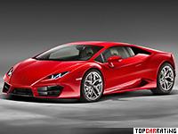 2016 Lamborghini Huracan LP580-2 Coupe = 320 kph, 580 bhp, 3.4 sec.
