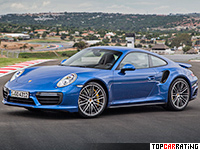2016 Porsche 911 Turbo Coupe (991) = 320 kph, 540 bhp, 3 sec.