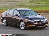 2014 Acura RLX Sport Hybrid = 250 kph, 377 bhp, 5.8 sec.