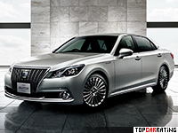2013 Toyota Crown Majesta = 250 kph, 343 bhp, 5.7 sec.