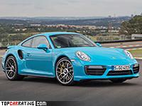 2016 Porsche 911 Turbo S (991) = 330 kph, 580 bhp, 2.9 sec.