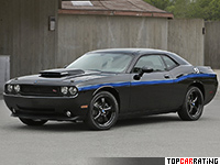 2010 Dodge Challenger R/T Mopar = 265 kph, 381 bhp, 5.5 sec.