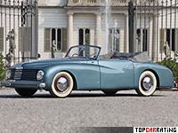 1947 Alfa Romeo 6C 2500 Sport Stabilimenti Farina = 155 kph, 95 bhp, 20 sec.