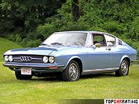 1973 Audi 100 Coupe S = 182 kph, 112 bhp, 10.7 sec.