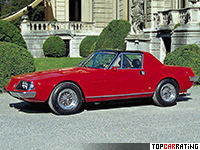 1974 Ferrari 330 GTC Zagato = 245 kph, 296 bhp, 6.8 sec.