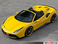 2016 Ferrari 488 Spider Novitec Rosso = 341 kph, 772 bhp, 2.8 sec.
